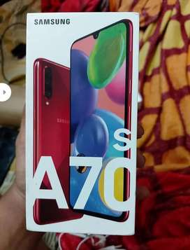 SAMSUNG A70s red color 3 month
