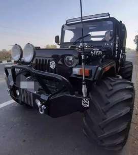 New stylish modified black jeep