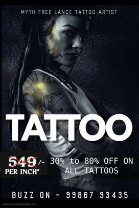 30% - 80% discount on all tattoos