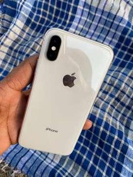 Phone X 64 GB silver colour