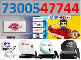 cashback ₹200 Tata sky HD box Full Install Cash On D tatasky dish tv