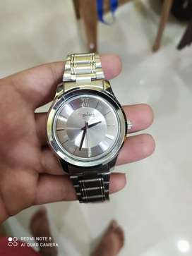 Men's silver analog watch for sale