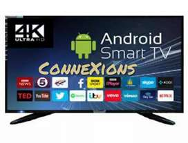 (2 Years Onsite Warranty)50inch UHD Smart Android Flat Screen Led TV