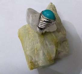 American turquoise with 96.5 pure silver ring