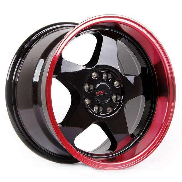 Bisa Kredit Velg HSR-Loud-JD805-Ring-16x8-9-H8x100-ET35-30-Black Red 0