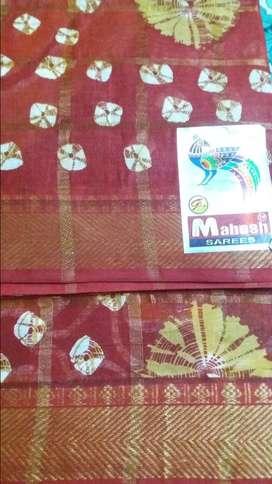 Brand new cotton Saree with beautiful desigen.
