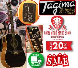 (Tagima guitar) tw25 semi acoustic professional+builten tuner+5band EQ