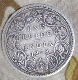 1878 One Rupee Coin