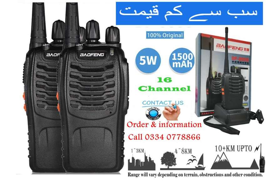 Wireless 5W waki taki Baofeng BF888s Walkie talkie Brand New Stock