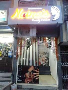 Running Beauty Parlor Setup For Sale at 80 Feet Road Ashoka Garden