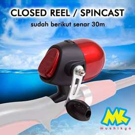Closed Reel / Spincast / gulungan pancing