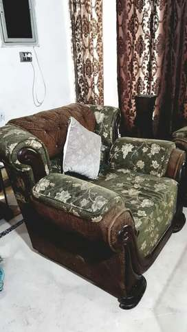 Sofa set (3+2+1) and Deewan, dining & coffee table going cheap