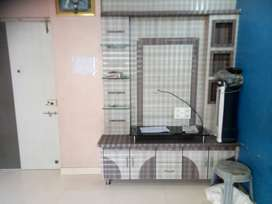 1bhk rental flat available in near hyper city Ghodbander road