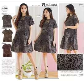 Dress Leopard Import All Size Fit M/L