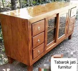Meja tv minimalis pintu 2 sledeng moderen&elegan, P.150, kayu jati tua