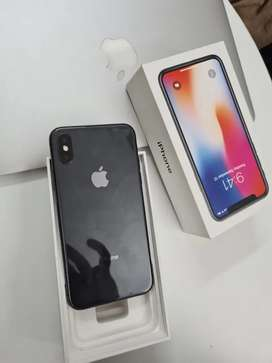 Iphone X 256Gb Gray with box bill charger all accessories available