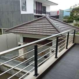 Balkon, Railing Tangga dan Pagar dari Besi dan Stainless