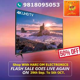 "Best Navratri Offer! Get 55"" Ultra HD 4K Smart Android Led @Wholesale"