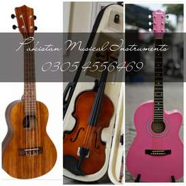 Violin ( Ukulele) Guitars (Box Packed Guitars) ( Dlivery Available)