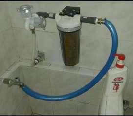 Filter housing penjernih air sumur kotor keruh pada kran air
