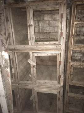 Wooden cage 6 portion in gujranwala city