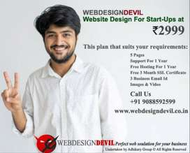 Website Design For Start-Ups at Rs 2999 Only