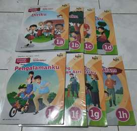 Buku Tematik kelas 1SD (penerbit Erlangga) seri 1A-1H
