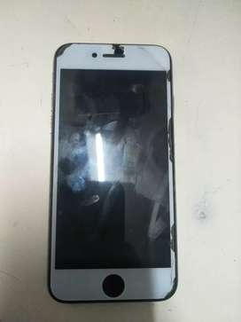 I phone 6 32gb black silver only screen guard crack mint condition