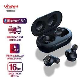 VIVAN Liberty T100S TWS Headset Bluetooth Waterproof + Charging Case -