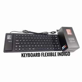 Keyboard flexible indigo