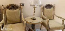 Royal Bedroom Chair With  coffee Table 2 month use Brain new