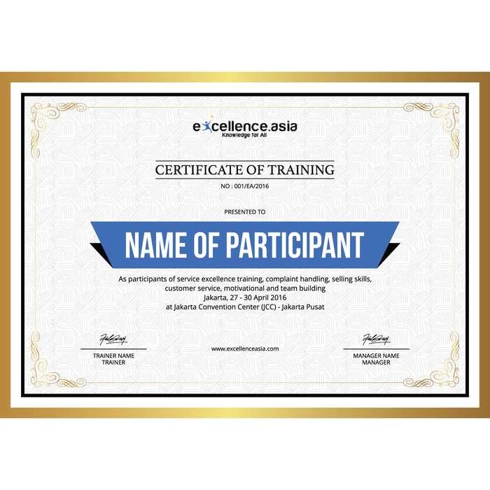 Sertifikat Untuk seminar, lomba, atau acara besar