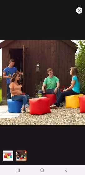 Ready stock beanbag cube waterproof kekinian