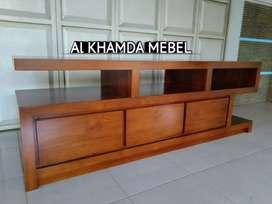 Ready Buvet Tv Minimalis Bahan Kayu Jati Monggo @312