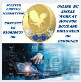 Online work at home