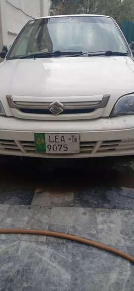 Suzuki Cultus VXR in white colour and of 2008 model (CNG and petrol)