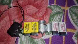 2 12 volt dc motor 4 Rechargeable battery 1 charger