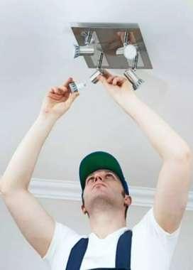 Under construction Light electrician