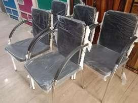 Brand New Fresh 5 Office Chair Set Steel