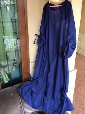 Gamis Serut Balotelli warna Navy, like new, busana muslim