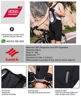 Gratis Ongkir/COD - Santic Move on Men Padded Bib Shorts