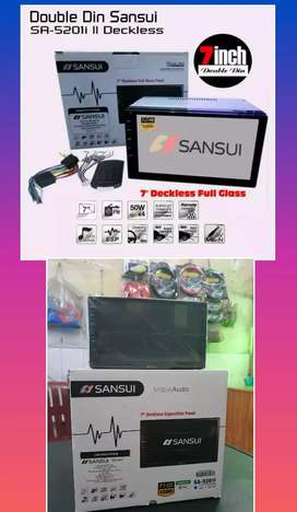 Tv Mobil Sansui Mirror Link 7 Inci (Mp4.Usb.Mmc.Aux.Radio.Bluettoth)