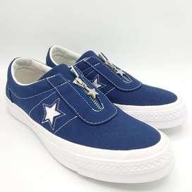 Sepatu Unisex CONVERSE One Star Slip On No. ART 564204C Blue
