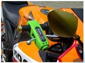 PROMO -Caps Lock Kunci Gembok Pengaman Anti Maling Stang Motor