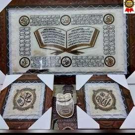 Pengrajin Kaligrafi Arab Kulit Kambing Sukoharjo