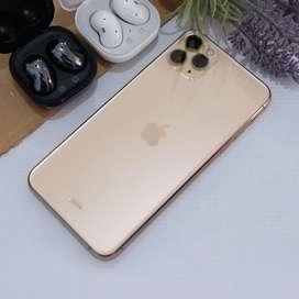 Iphone 11 pro max 256gb gold garansi tam