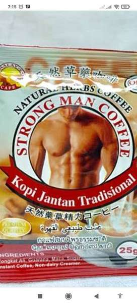 Red coffee for man's