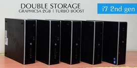 3 YEARS WARRANTY - HP i7 2ND GEN - HOME DELIVERY - SSD 120gb- 4GB RAM