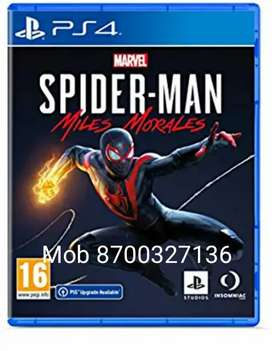 PS4 Game SpiderMan Miles Morals Availabe at Disc