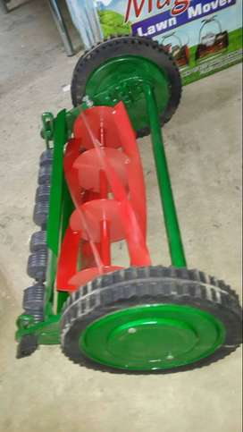 manual electrical & petrol atco lawn mover, tractor driven grass cuter